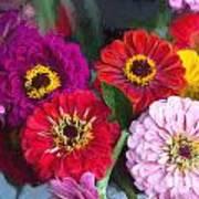 Farmer's Market Flowers II Art Print