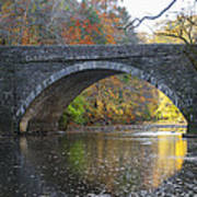 It's Autumn At The Valley Green Bridge Art Print