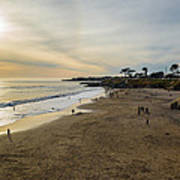 Its Beach Afternoon In Santa Cruz Art Print