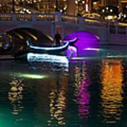 It's Not Venice - Brilliant Lights Glamorous Gondolas And The Magic Of Las Vegas At Night Art Print
