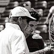 Ivan Lendl And Andy Murray  Art Print by Nishanth Gopinathan