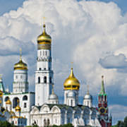 Ivan The Great Bell Tower Of Moscow Kremlin - Featured 3 Art Print