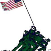 Iwo Jima 20130210-white Print by Wingsdomain Art and Photography