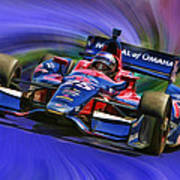 Izod Indycar Series Marco Andretti  Art Print by Blake Richards