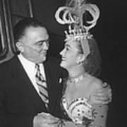 J. Edgar Hoover And Actress Dorothy Art Print