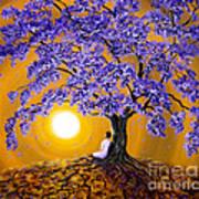 Jacaranda Sunset Meditation Art Print