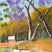 Jacaranda Tree Art Print