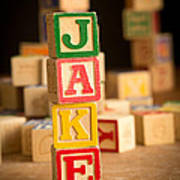 Jake - Alphabet Blocks Art Print