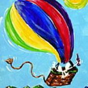 Jack And Charlie Fly Away Art Print