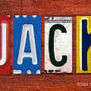 Jack License Plate Name Sign Fun Kid Room Decor Art Print