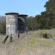 Jack London Ranch Silos 5d22146 Art Print by Wingsdomain Art and Photography