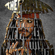 Jack Sparrow Quote Portrait Typography Artwork Art Print