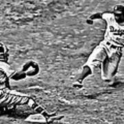 Jackie Robinson Stealing Home Art Print