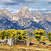 Jackson Hole Print by Kathleen Bishop