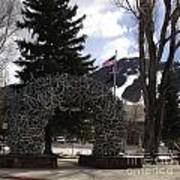 Jackson Hole Wyoming Antler Arch Art Print