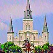Jackson Square In The French Quarter Art Print