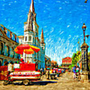 Jackson Square Painted Version Art Print