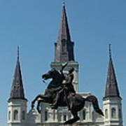 Jackson Square Salute Art Print by Kevin Croitz