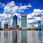 Jacksonville Skyline Art Print