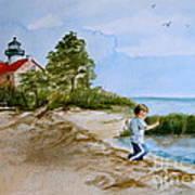Jacob At East Point  Art Print