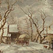 Jacob Cats Dutch, 1741 - 1799, Winter Scene Art Print