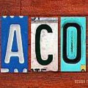 Jacob License Plate Name Sign Fun Kid Room Decor. Art Print