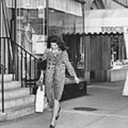 Jacqueline Kennedy In Leopard Print Print by Retro Images Archive