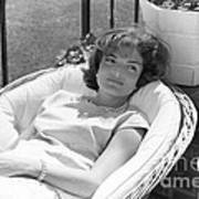 Jacqueline Kennedy relaxing at Hyannis Port 1959. Art Print