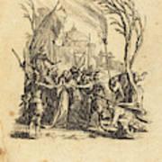 Jacques Callot French, 1592 - 1635, The Betrayal Art Print