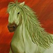 Jade Horse Art Print