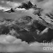Jagged Peaks Glaciers And Storms Art Print