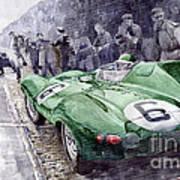 Jaguar D-type  1955 Le Mans  Art Print