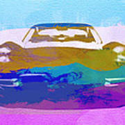Jaguar E Type Front Print by Naxart Studio