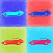 Jaguar E Type Pop Art 2 Art Print by Naxart Studio