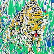 Jaguar - Enamels Painting Art Print
