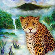 Jaguar In The Mist Art Print
