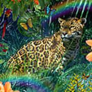 Jaguar Meadow  Variant 1 Art Print