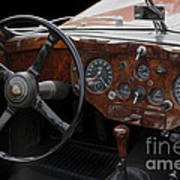 Jaguar Odtimer Steering Wheel Art Print