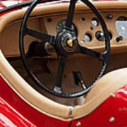 Jaguar Steering Wheel Print by Jill Reger