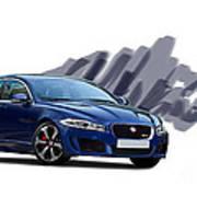 Jaguar Xe Rs Art Print