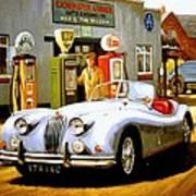 Jaguar Xk 140 Art Print