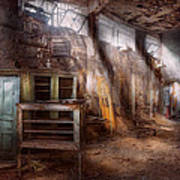 Jail - Eastern State Penitentiary - Sick Bay Art Print by Mike Savad
