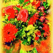 J'aime Le Bouquet Art Print