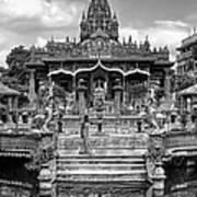 Jain Temple Monochrome Art Print