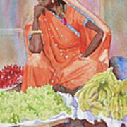 Jaipur Street Vendor Art Print