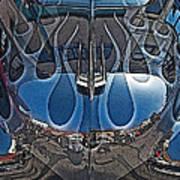 Jalopy Hood Reflections Art Print by Samuel Sheats