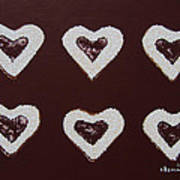 Jam-filled Cookies Art Print