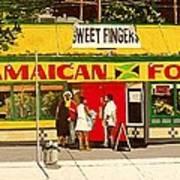 Jamaican Food Art Print
