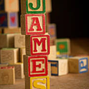 James - Alphabet Blocks Art Print