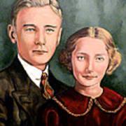 James And Ina K Art Print